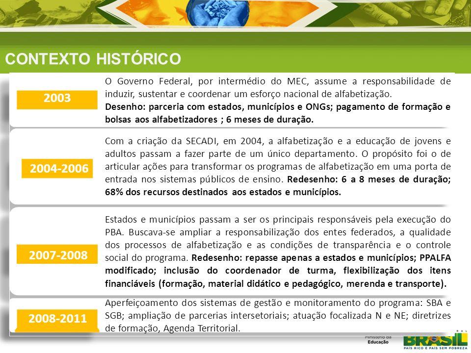 REFERÊNCIAS FORMATIVAS O PBA possui um desenho flexível para atender à diversidade regional e de público em um país com as dimensões do Brasil.
