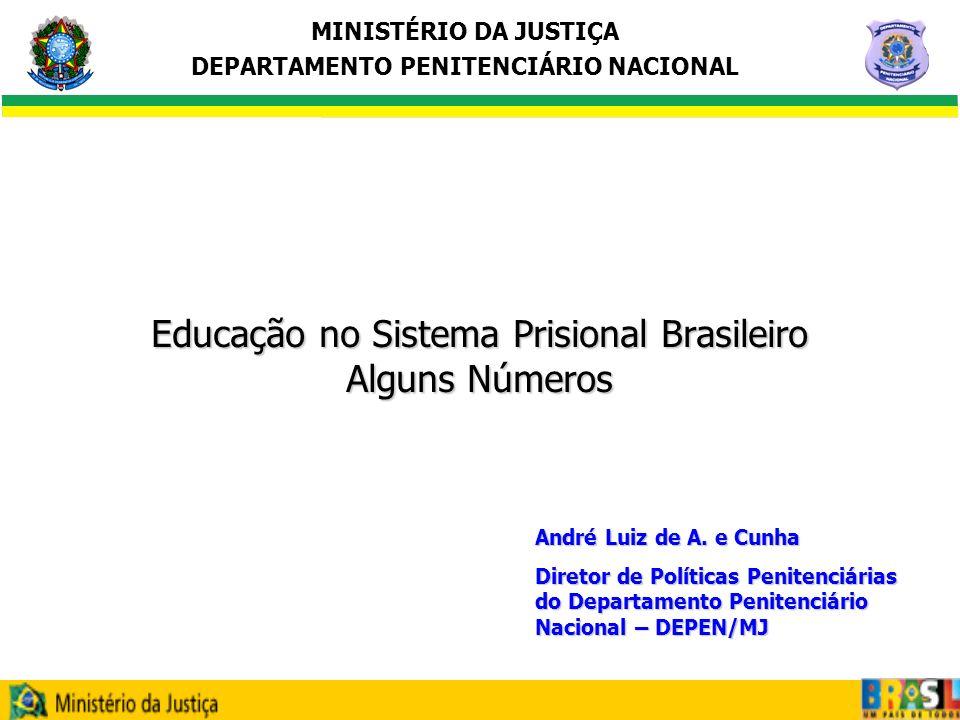MINISTÉRIO DA JUSTIÇA DEPARTAMENTO PENITENCIÁRIO NACIONAL Grau de Instrução dos Presos no Brasil