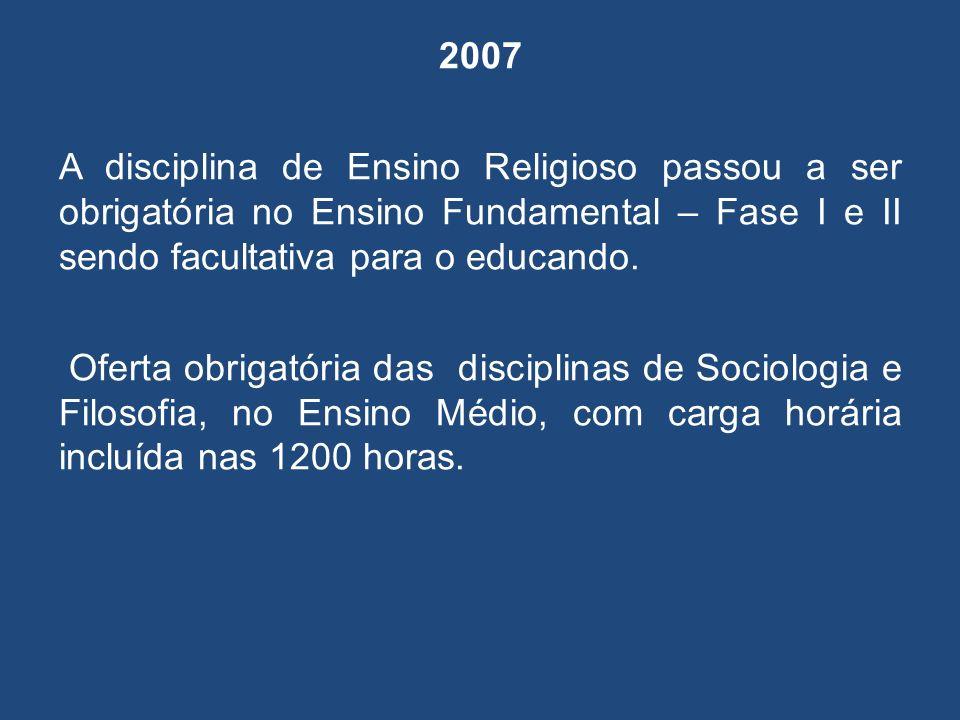 2009 A SEED procedeu a Avaliação Institucional em 109 Colégios Estaduais que ofertam EJA em 94 CEEBJA e nas APED, para fins de identificar as qualidades e fragilidades da Proposta Pedagógico Curricular e também para renovação de reconhecimento do curso.