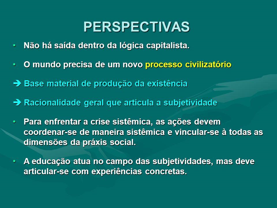 Não há saída dentro da lógica capitalista.Não há saída dentro da lógica capitalista. O mundo precisa de um novo processo civilizatórioO mundo precisa