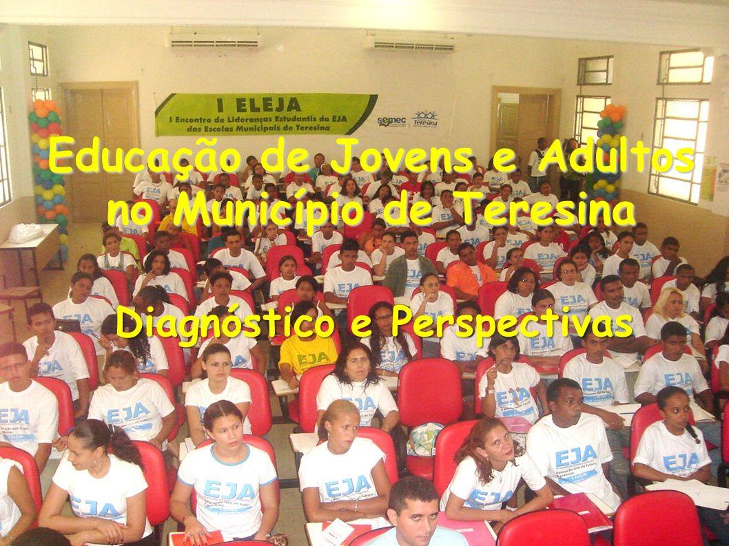 Educação de Jovens e Adultos no Município de Teresina Educação de Jovens e Adultos no Município de Teresina Diagnóstico e Perspectivas