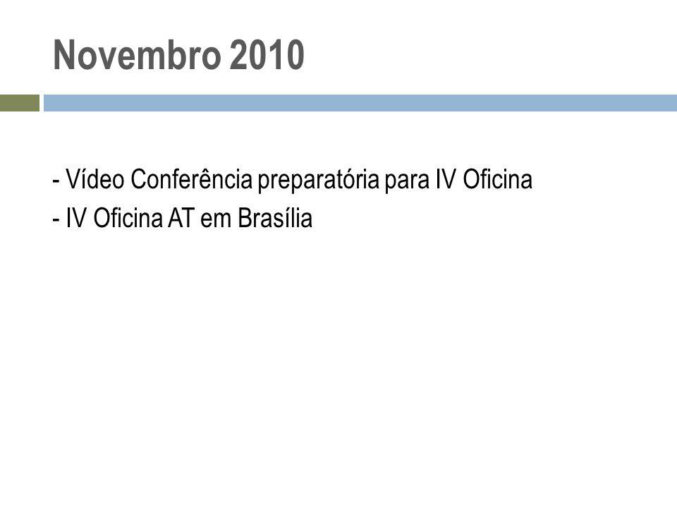 Novembro 2010 - Vídeo Conferência preparatória para IV Oficina - IV Oficina AT em Brasília