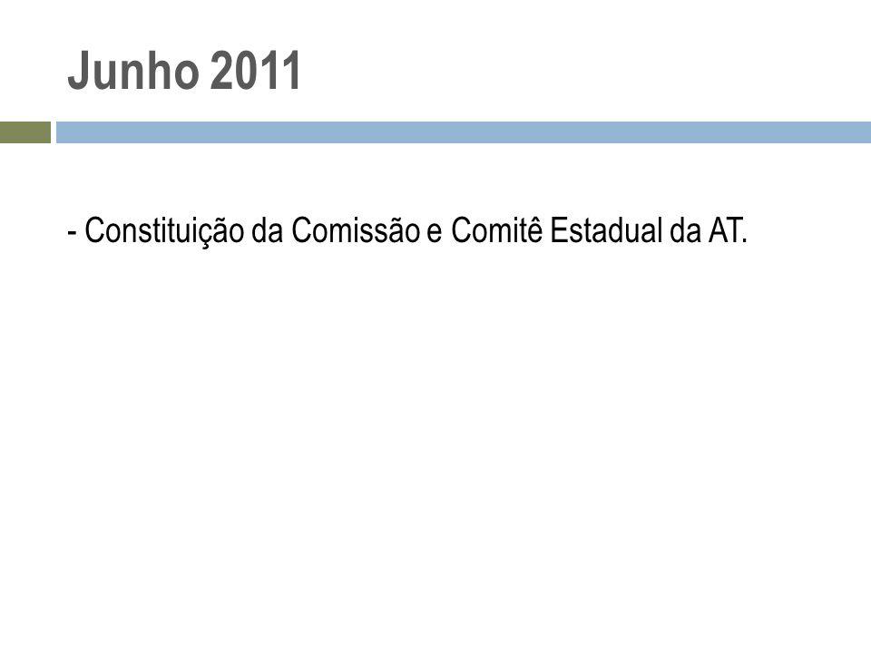Junho 2011 - Constituição da Comissão e Comitê Estadual da AT.