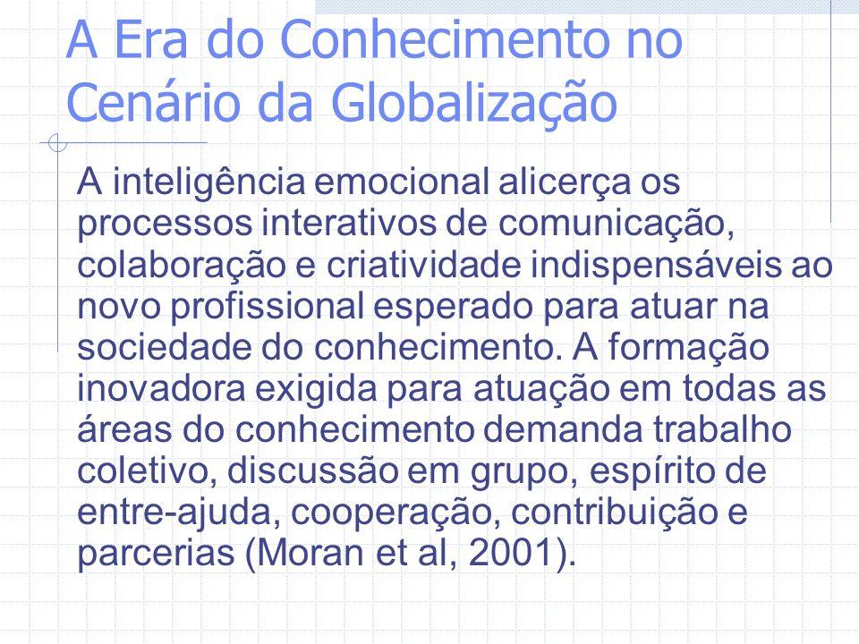 A Era do Conhecimento no Cenário da Globalização A educação aberta e a distância aparece, cada vez mais, no contexto das sociedades contemporâneas, como uma modalidade de educação extremamente adequada e desejável para atender às novas demandas educacionais, decorrentes das mudanças na nova ordem econômica mundial (Belloni, 2001).