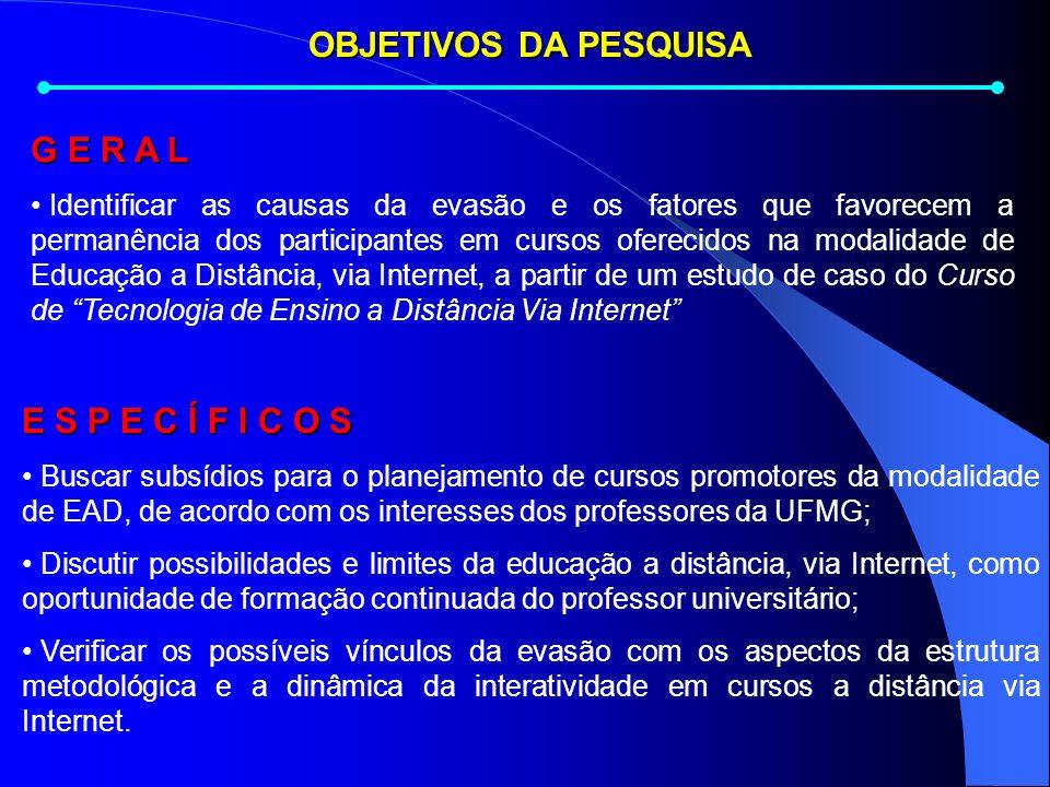 A FORMAÇÃO CONTINUADA DO DOCENTE UNIVERSITÁRIO EM CURSOS A DISTÂNCIA VIA INTERNET: UM ESTUDO DE CASO Maria de Lourdes Coelho (Mestranda) Profª Drª Ana