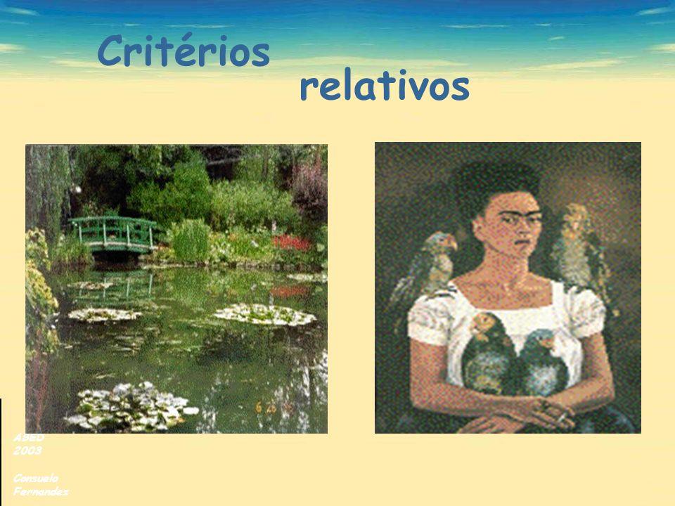 ABED 2003 Consuelo Fernandez Critérios relativos