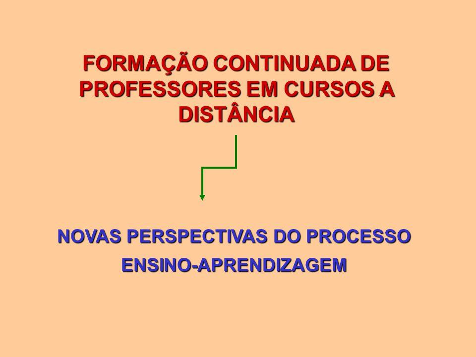 FORMAÇÃO CONTINUADA DE PROFESSORES EM CURSOS A DISTÂNCIA NOVAS PERSPECTIVAS DO PROCESSO ENSINO-APRENDIZAGEM