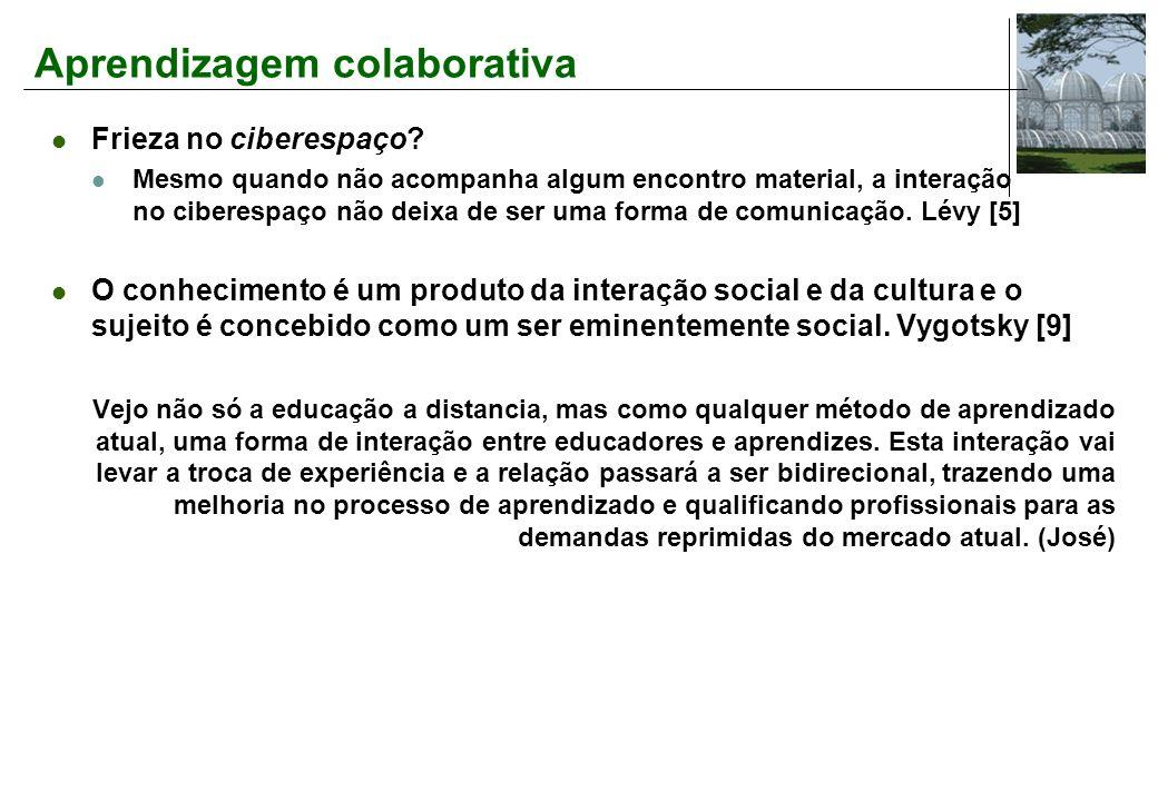 Aprendizagem colaborativa Frieza no ciberespaço.