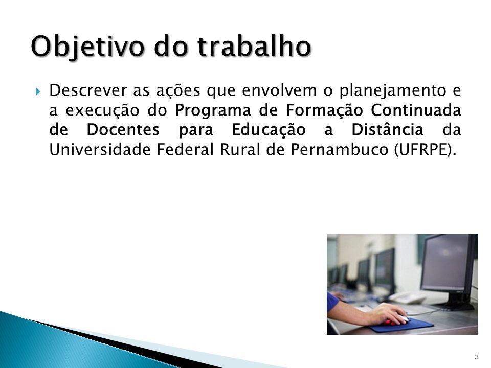 Expansão da EAD no Brasil Crescente demanda por profissionais qualificados Múltiplos papéis dos docentes Precária formação dos profissionais na área de EAD no Brasil Programas de Formação continuada de docentes para EAD 4