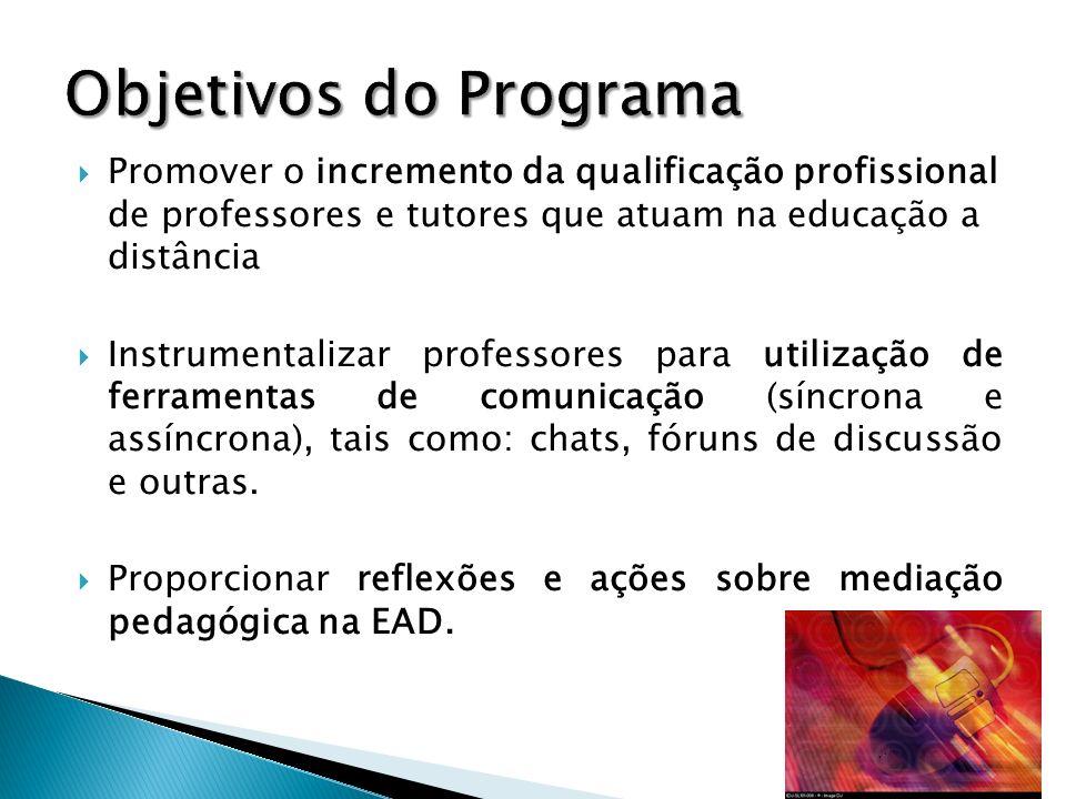 Cursos de aperfeiçoamento Carga horária total de 220 horas Organização de Módulos de aprendizagem.