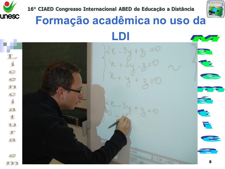 16° CIAED Congresso Internacional ABED de Educação a Distância www.unesc.net/sead9