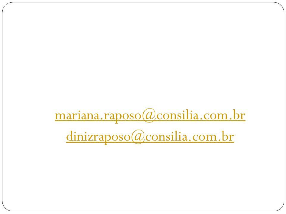 mariana.raposo@consilia.com.br dinizraposo@consilia.com.br