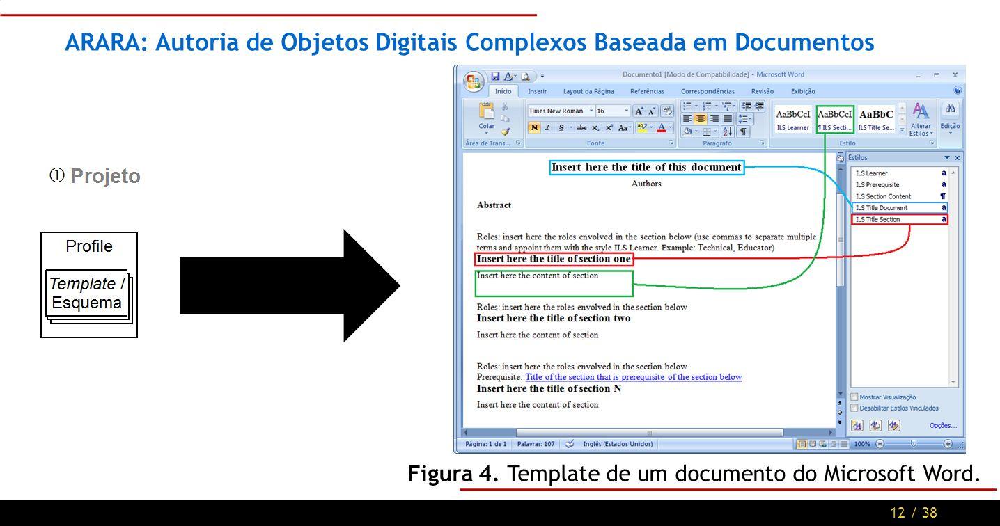 12 / 38 ARARA: Autoria de Objetos Digitais Complexos Baseada em Documentos Figura 4.