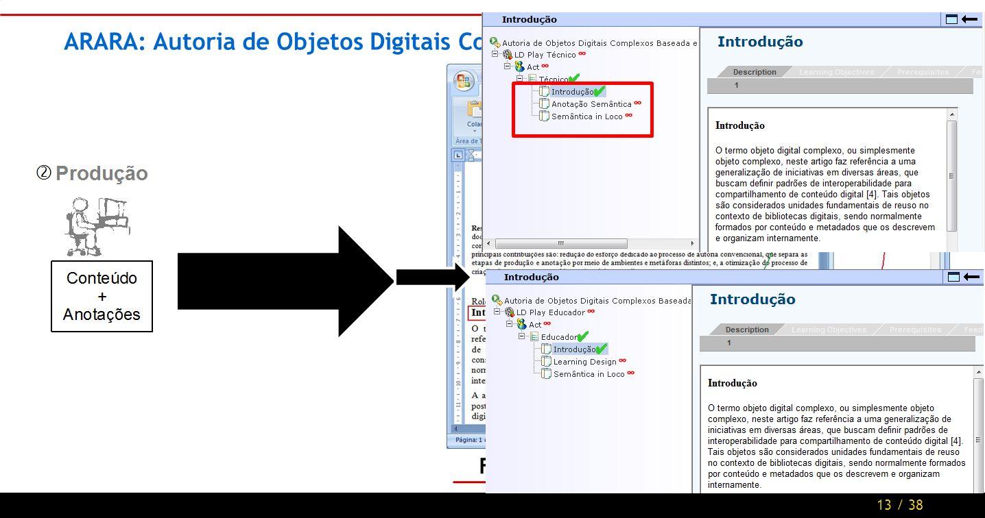 13 / 38 ARARA: Autoria de Objetos Digitais Complexos Baseada em Documentos Figura 5.