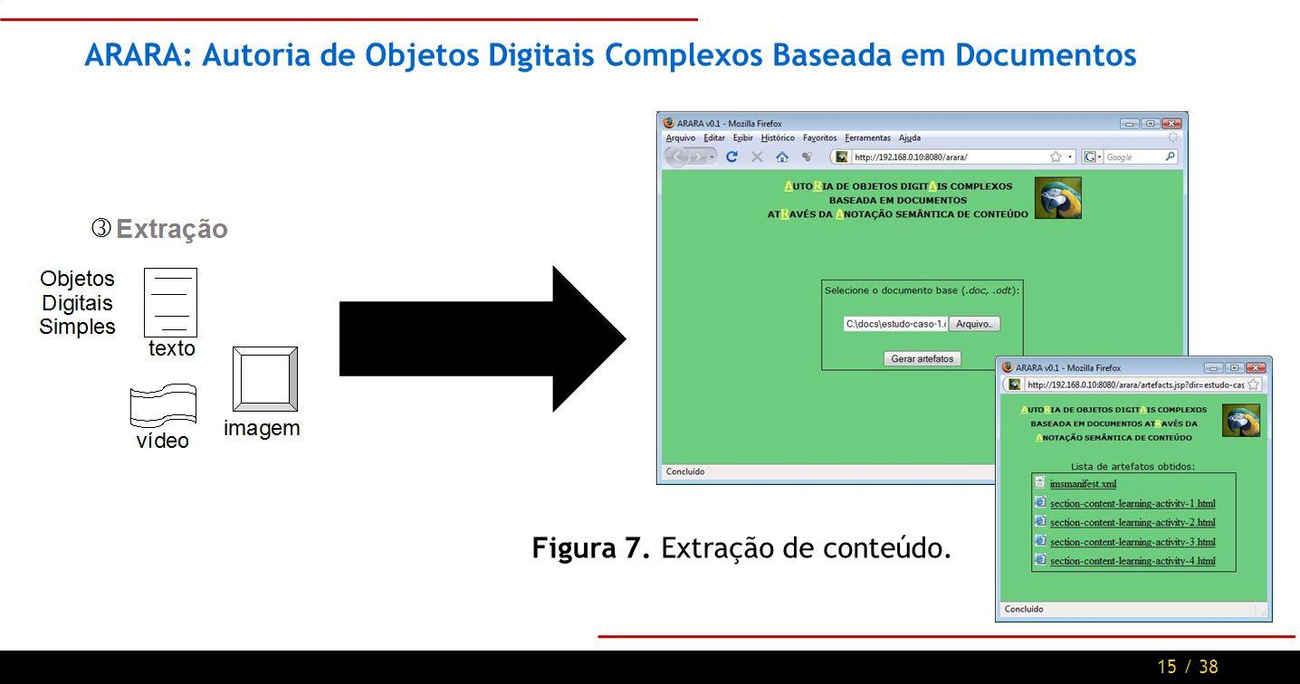 15 / 38 ARARA: Autoria de Objetos Digitais Complexos Baseada em Documentos Figura 7.