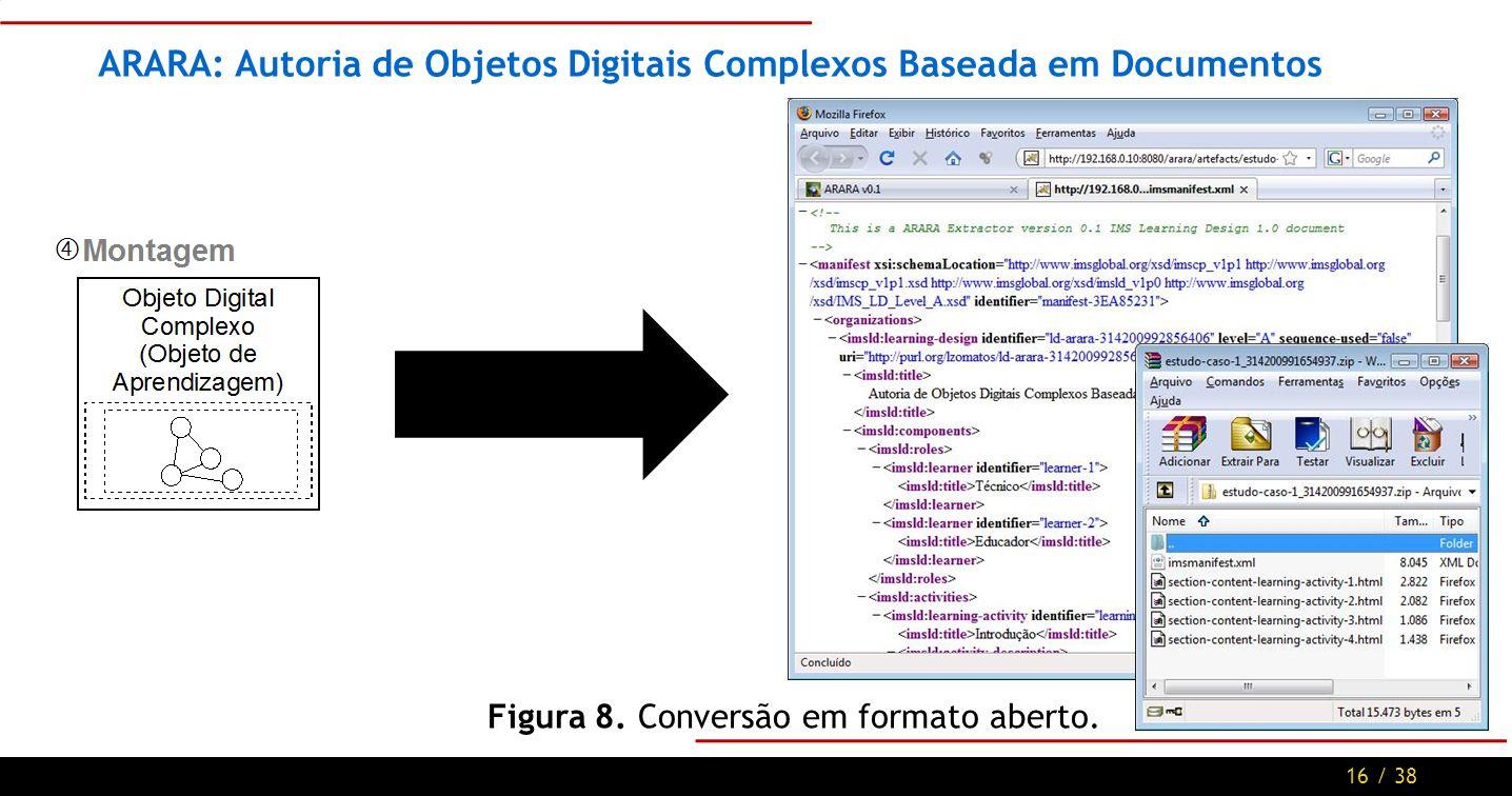 16 / 38 ARARA: Autoria de Objetos Digitais Complexos Baseada em Documentos Figura 8.
