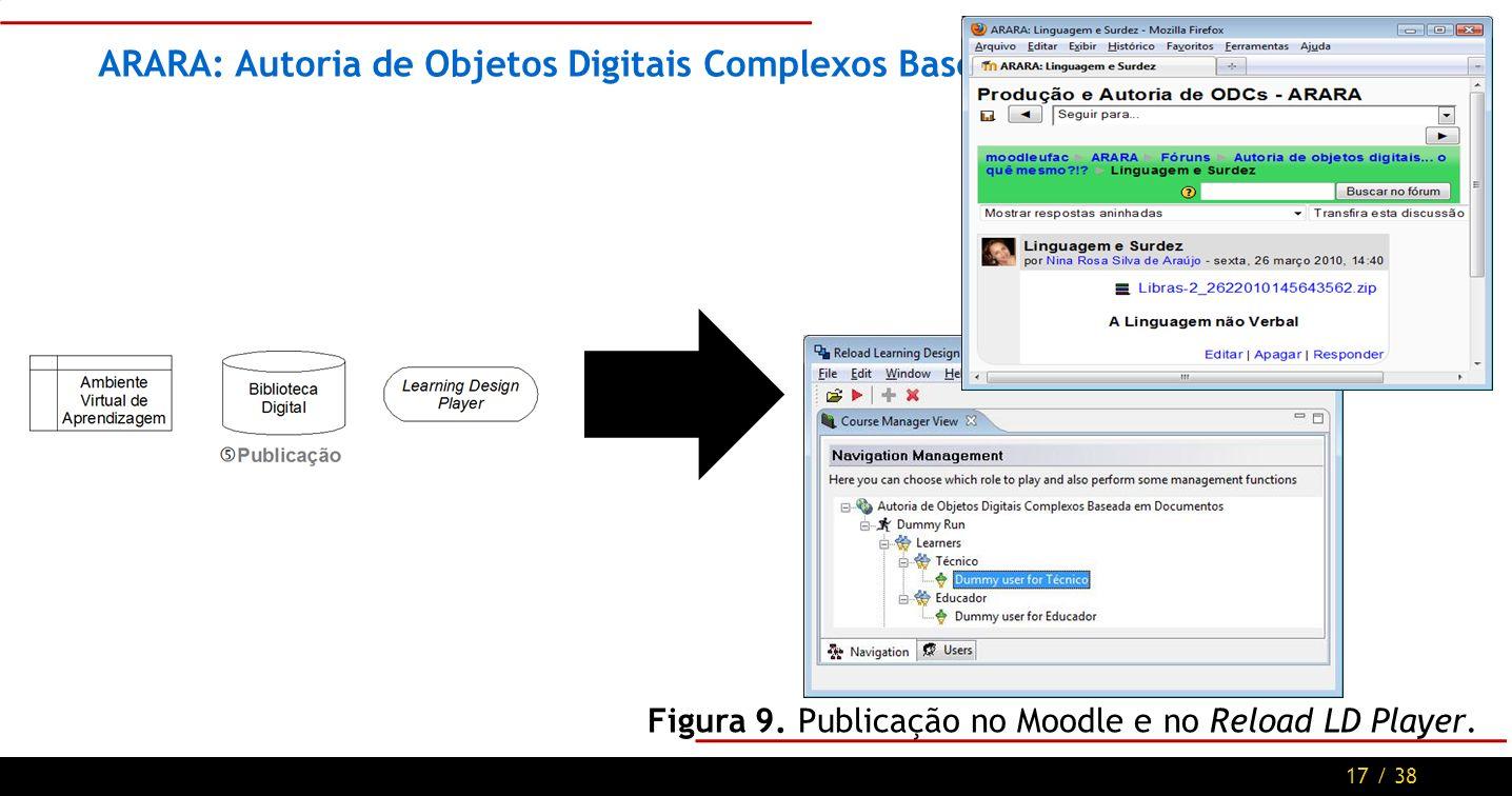 17 / 38 ARARA: Autoria de Objetos Digitais Complexos Baseada em Documentos Figura 9.
