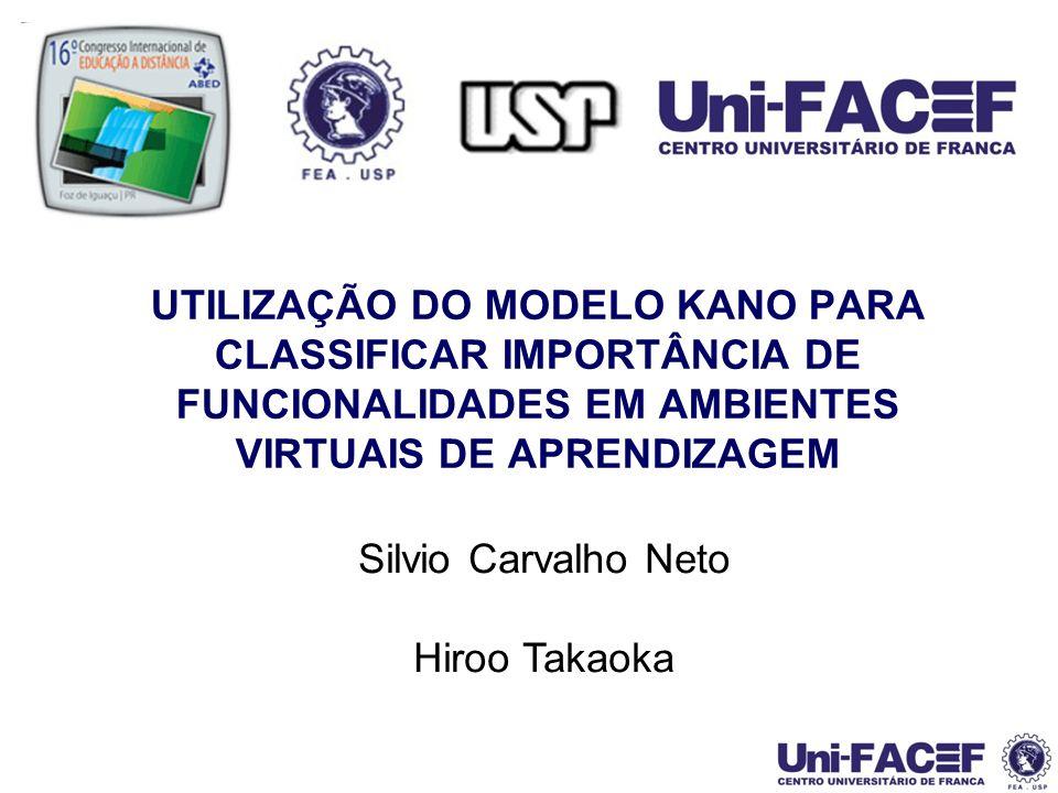 12 Análise 2 – Classificação Modelo Kano Características de Funcionalidades de Interação e Comunicação