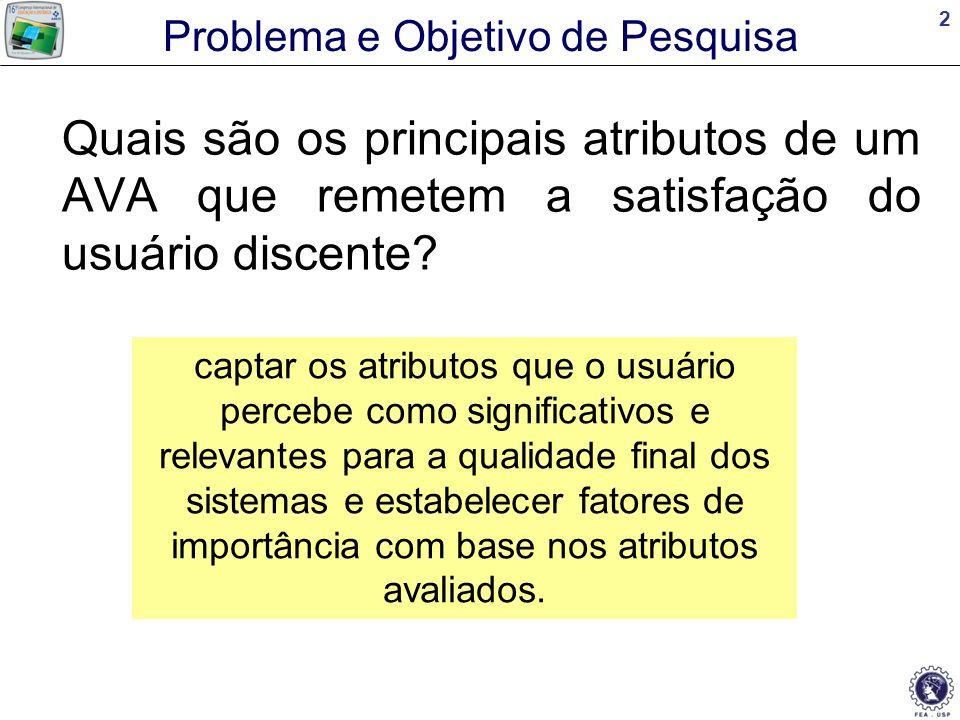 13 Análise 3 - Importância das Características Características de Qualidade da Informação e do Sistema