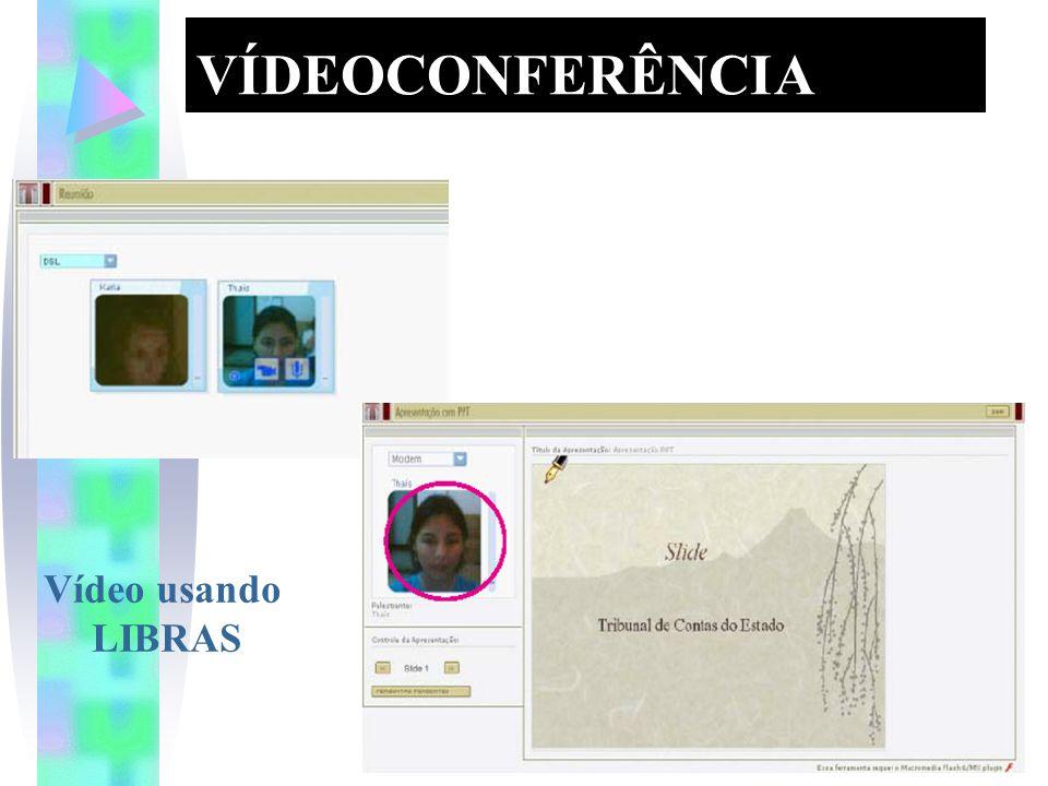 VÍDEOCONFERÊNCIA Vídeo usando LIBRAS