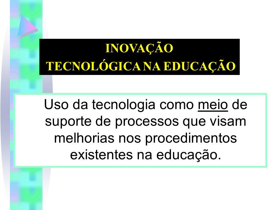 Uso da tecnologia como meio de suporte de processos que visam melhorias nos procedimentos existentes na educação.
