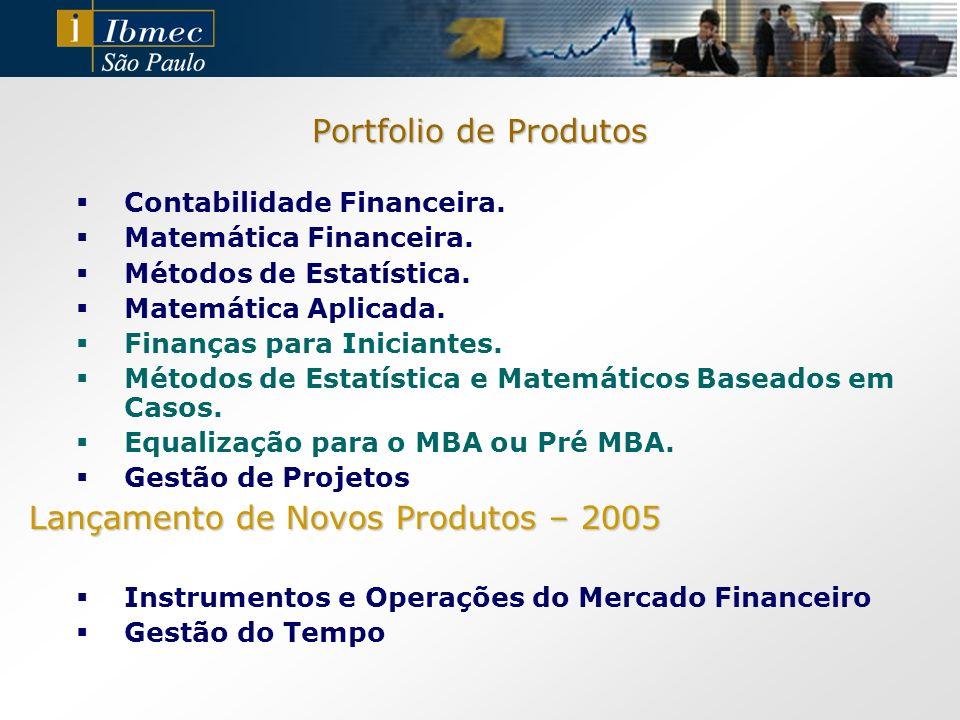 Portfolio de Produtos Contabilidade Financeira. Matemática Financeira. Métodos de Estatística. Matemática Aplicada. Finanças para Iniciantes. Métodos
