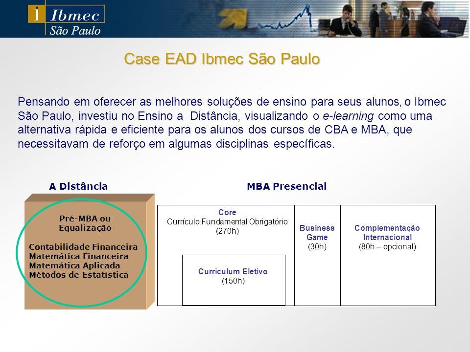 Pensando em oferecer as melhores soluções de ensino para seus alunos, o Ibmec São Paulo, investiu no Ensino a Distância, visualizando o e-learning com