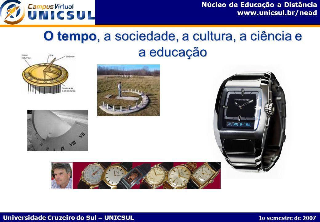 Núcleo de Educação a Distância www.unicsul.br/nead Universidade Cruzeiro do Sul – UNICSUL 1o semestre de 2007 Disciplinas do Curso de Pós-Graduação em Informática na Educação – Esquema Pedagógico Disciplinas de 40h e 22h AVCE E/A CA E/A Unidade Temática E/A = Exercícios/Atividades AV = Apresentação Virtual - corresponde a 2h; ocorrendo aos sábados CE = Conteúdo Expandido - corresponde a 3h por semana via web CA = Conteúdo Aprofundado - corresponde a 5h por semana via web
