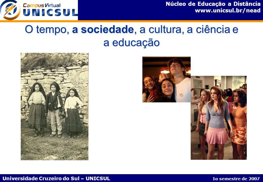 Núcleo de Educação a Distância www.unicsul.br/nead Universidade Cruzeiro do Sul – UNICSUL 1o semestre de 2007 Disciplinas do Curso de Graduação em Ciências Contábeis – Modelo Organizacional Disciplinas de 80h AV = Apresentação Virtual - corresponde a 2h, ocorrendo aos sábados;; VA = Vídeo Aula - corresponde a 10m, disponibilizada aos sábados, intercalando com as AV; CE = Conteúdo Expandido - corresponde a 1 módulo de 3h30 ou 4h30 por semana via web.