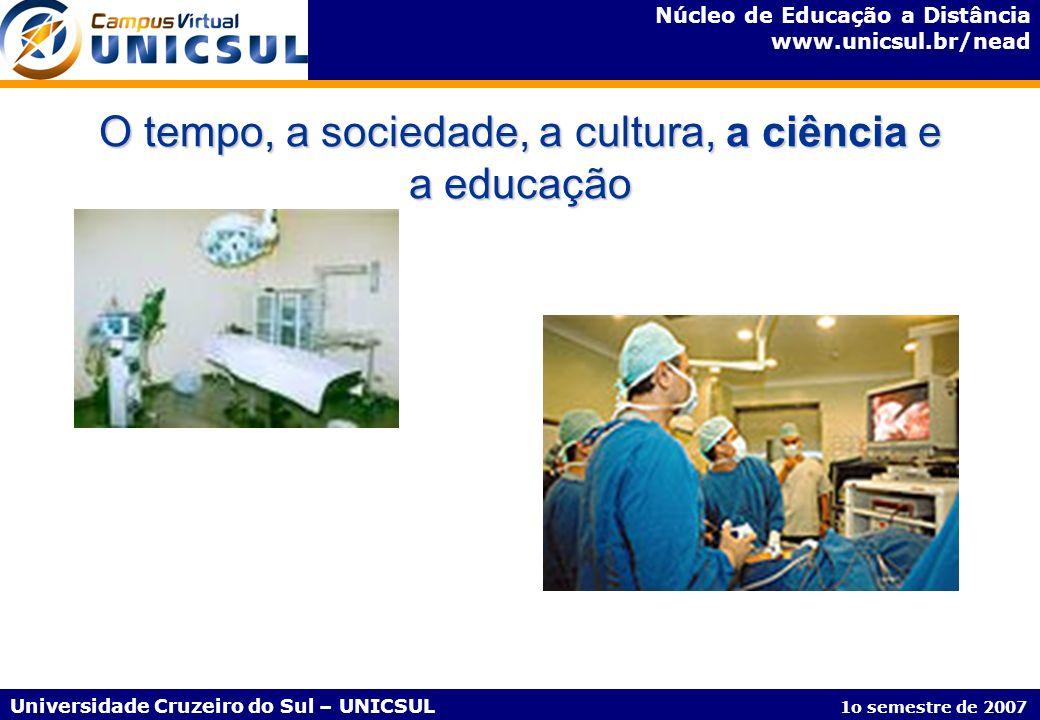 Núcleo de Educação a Distância www.unicsul.br/nead Universidade Cruzeiro do Sul – UNICSUL 1o semestre de 2007 Disciplinas do Curso de Pós-Graduação em Informática na Educação – Esquema Pedagógico Disciplinas de 80h/a AV CE (3h30) CA (3h30) VACE (4h30) CA (4h30) Unidade Temática CE = Conteúdo Expandido - corresponde a 3h30 ou 4h30 por semana via web CA = Conteúdo Aprofundado - corresponde a 3h30 ou 4h30 por semana via web E/A = Exercícios/Atividades AV = Apresentação Virtual - corresponde a 2h; ocorrendo aos sábados VA = Vídeo Aula - corresponde a 10m E/ A