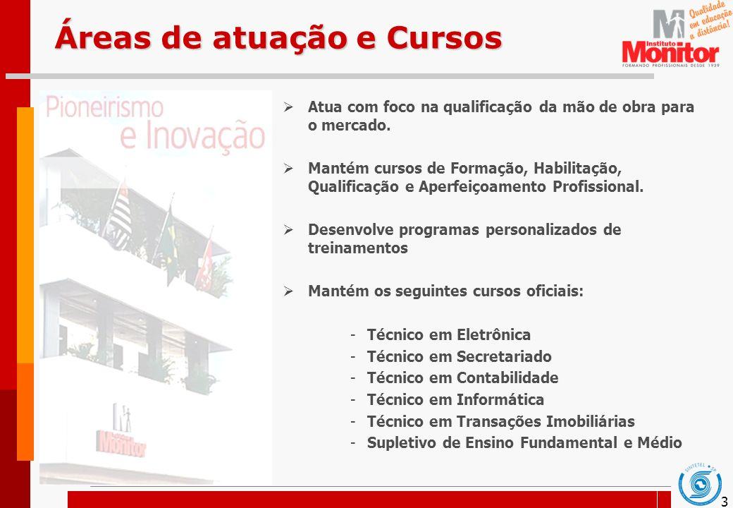 4 Metodologia de Ensino A metodologia empregada pelo Instituto Monitor em seus cursos é o ENSINO A DISTÂNCIA.