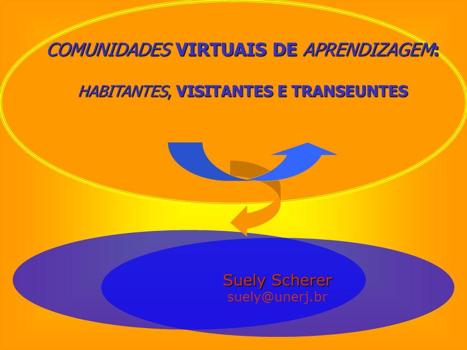 COMUNIDADES VIRTUAIS DE APRENDIZAGEM: HABITANTES, VISITANTES E TRANSEUNTES Suely Scherer suely@unerj.br