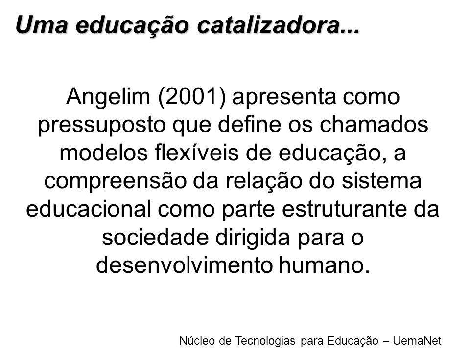 Núcleo de Tecnologias para Educação – UemaNet Angelim (2001) apresenta como pressuposto que define os chamados modelos flexíveis de educação, a compre