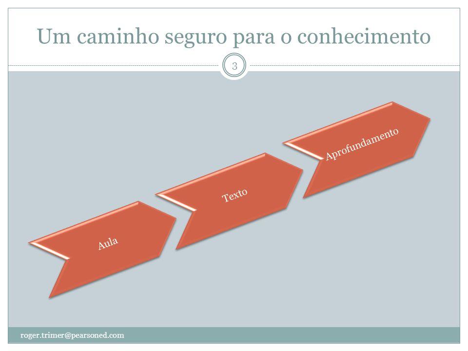 Um caminho seguro para o conhecimento roger.trimer@pearsoned.com 3 AulaTextoAprofundamento