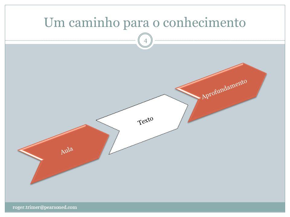 Um caminho para o conhecimento? roger.trimer@pearsoned.com 5 AulaTextoAprofundamento