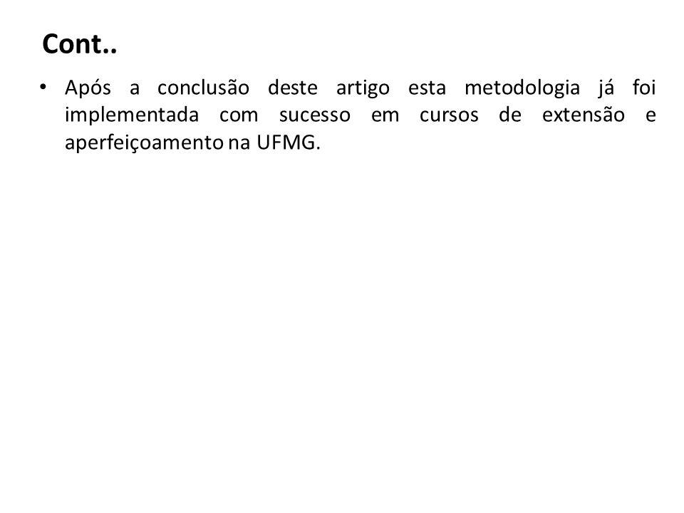 Obrigado Liamara Scortegagna Comassetto – NEAD/UnC lia@uncnet.brlia@uncnet.br Marcio Luis Bunte de Carvalho - LCC/UFMG mlbc@ufmg.brmlbc@ufmg.br George Teodoro - LCC/UFMG george@dcc.ufmg.brgeorge@dcc.ufmg.br Leonardo Rocha - LCC/UFMG lcrocha@dcc.ufmg.brlcrocha@dcc.ufmg.br