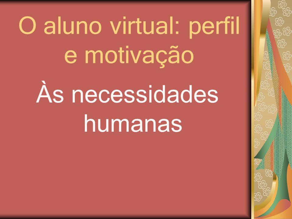 O aluno virtual: perfil e motivação Às necessidades humanas