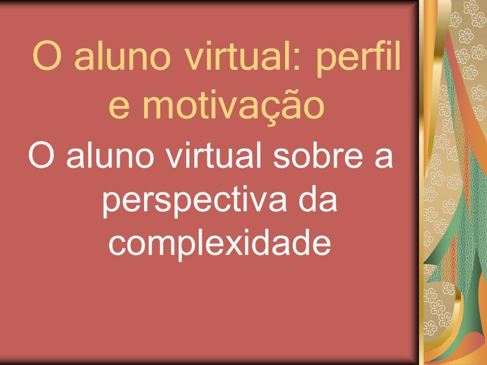 O aluno virtual: perfil e motivação O aluno virtual sobre a perspectiva da complexidade