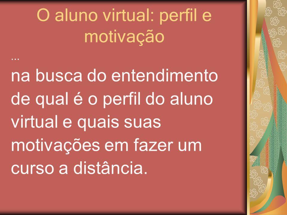 O aluno virtual: perfil e motivação... na busca do entendimento de qual é o perfil do aluno virtual e quais suas motivações em fazer um curso a distân