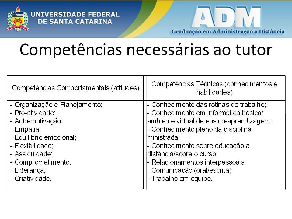 Competências necessárias ao tutor