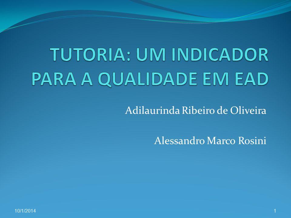 Adilaurinda Ribeiro de Oliveira Alessandro Marco Rosini 10/1/20141