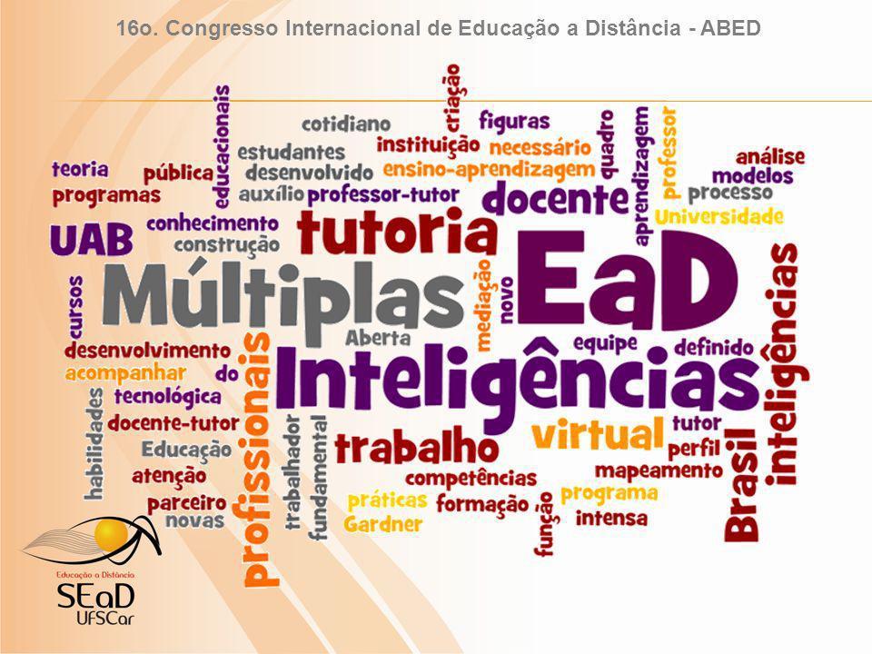 16o. Congresso Internacional de Educação a Distância - ABED