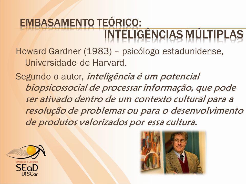 Propõe a existência de oito tipos de inteligência: www.inteligenciasmultiplas.com.br