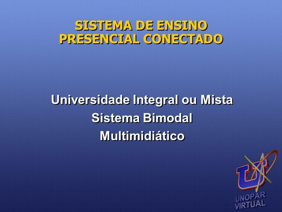 Universidade Integral ou Mista Sistema Bimodal Multimidiático Universidade Integral ou Mista Sistema Bimodal Multimidiático SISTEMA DE ENSINO PRESENCI