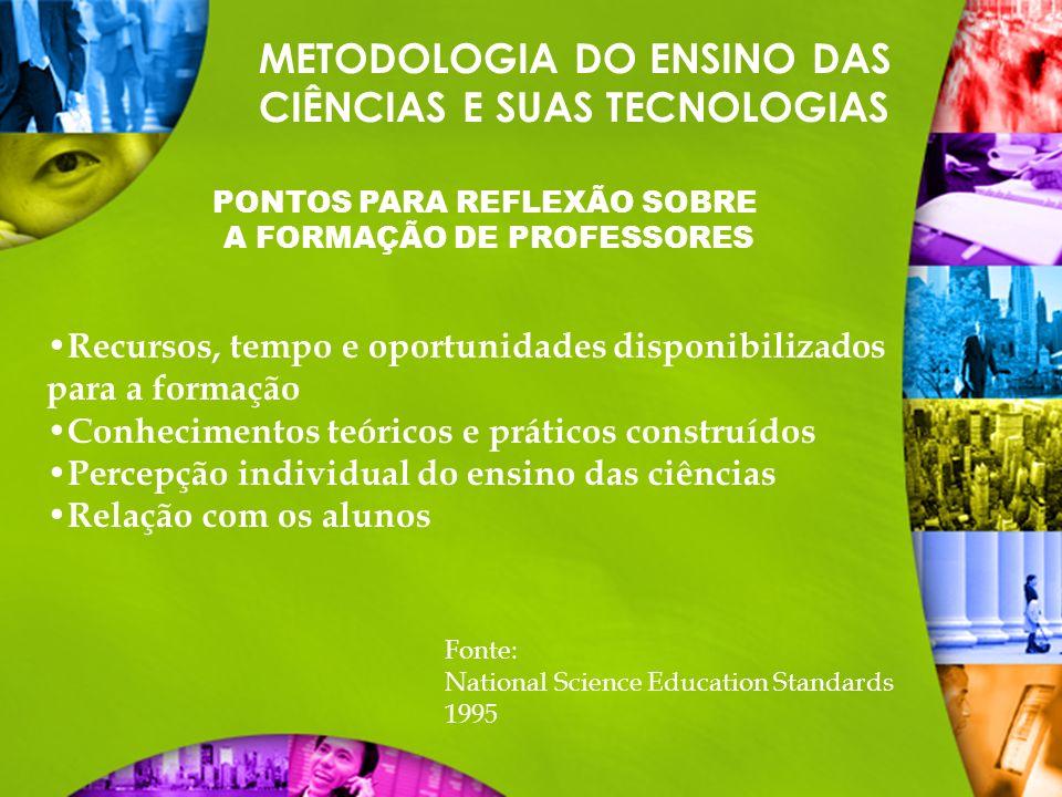 METODOLOGIA DO ENSINO DAS CIÊNCIAS E SUAS TECNOLOGIAS 10 COMPETÊNCIAS PARA NOVOS PROFESSORES 1.Organizar e estimular situações de aprendizagem.
