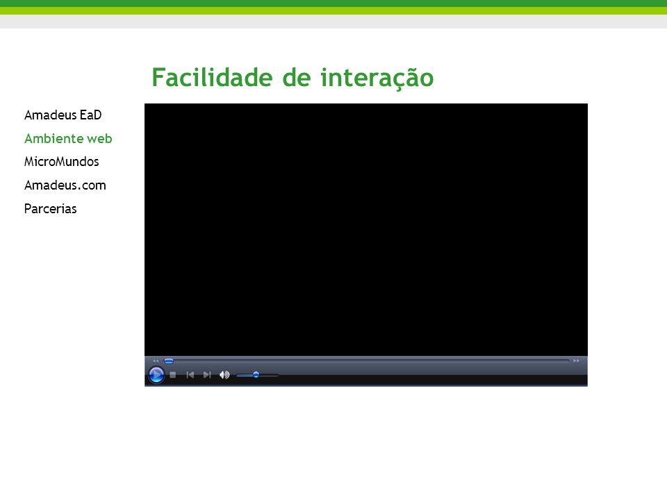 Amadeus EaD Ambiente web MicroMundos Amadeus.com Parcerias Facilidade de interação