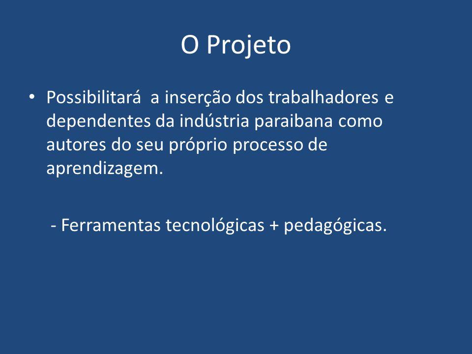 O Projeto Possibilitará a inserção dos trabalhadores e dependentes da indústria paraibana como autores do seu próprio processo de aprendizagem. - Ferr