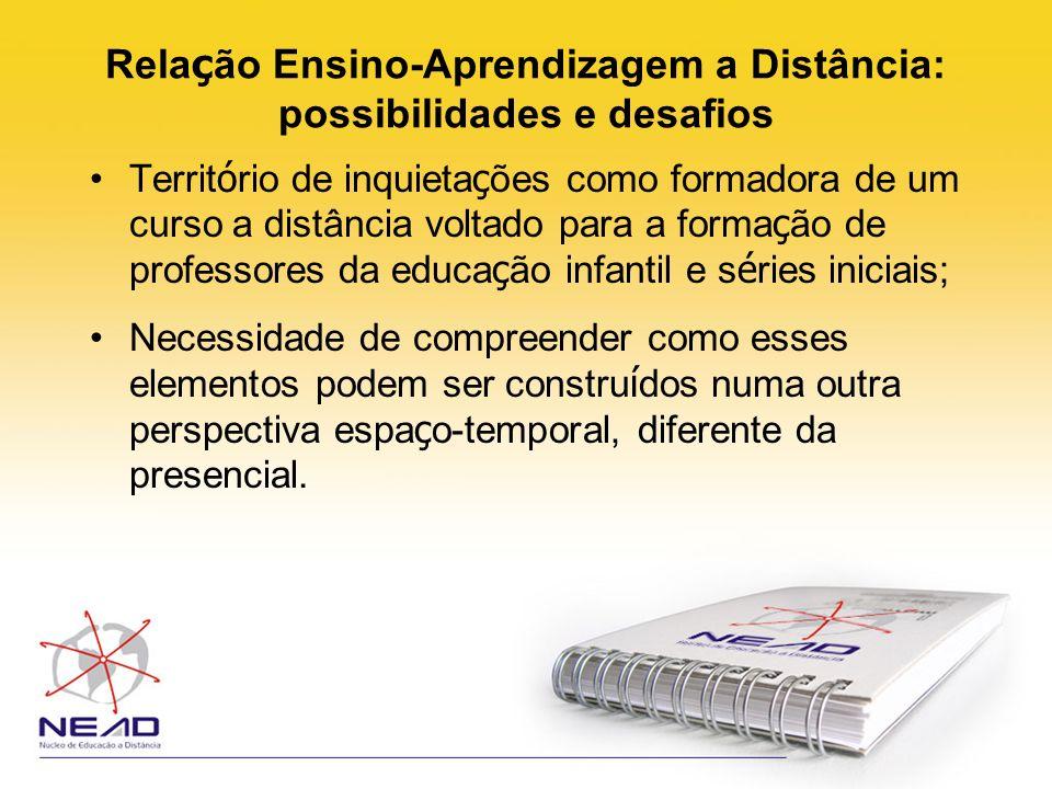 Rela ç ão Ensino-Aprendizagem a Distância: possibilidades e desafios Almeida (2003, p.