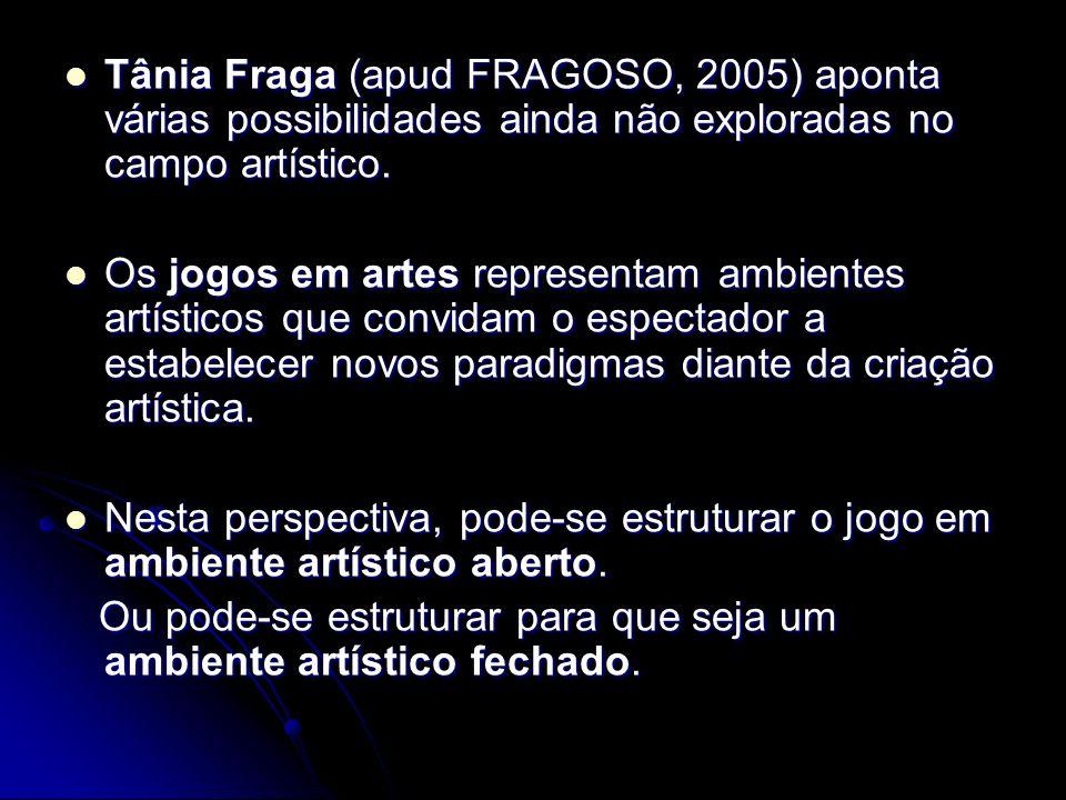 Trabalhos em arte computacional que podem ser considerados ambientes de jogo Gilberto Prado Tânia Fraga Diana Domingues Suzete Venturelli