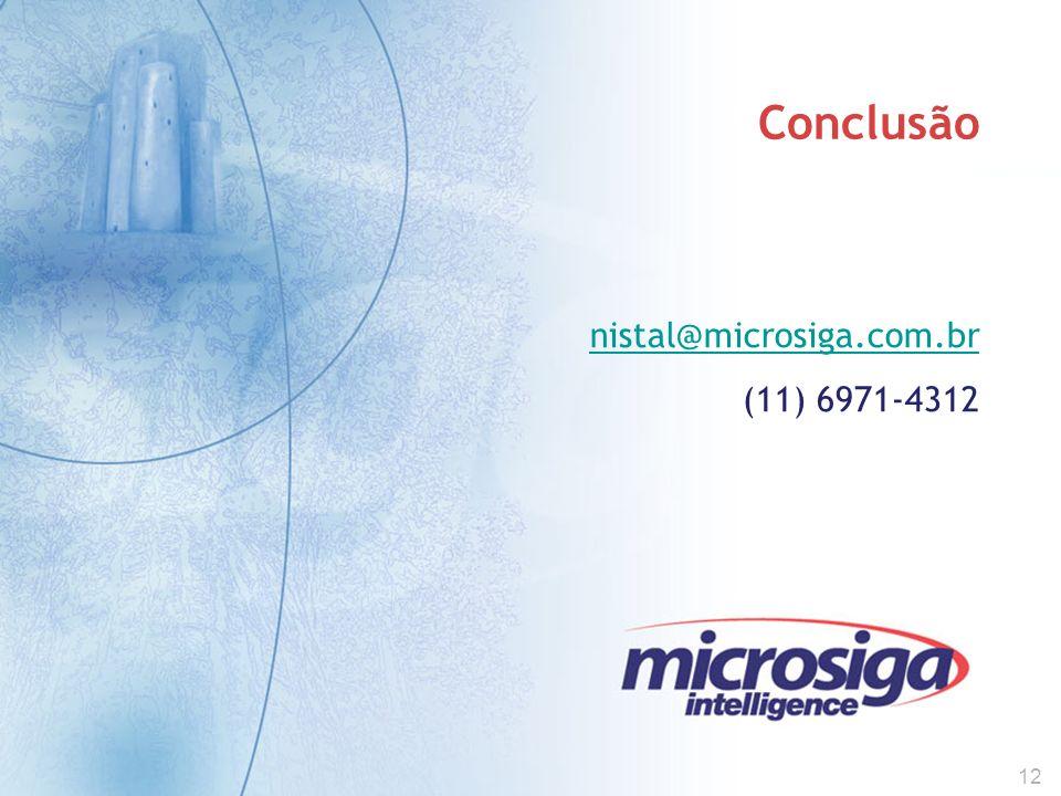 12 Conclusão nistal@microsiga.com.br (11) 6971-4312